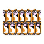 Cute Cat Hand Orange Plate Mats 18 x12 Plate Mat - 1