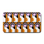Cute Cat Hand Orange Medium Bar Mats 16 x8.5 Bar Mat - 1