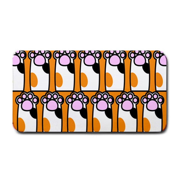 Cute Cat Hand Orange Medium Bar Mats