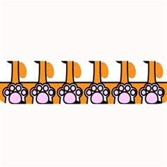 Cute Cat Hand Orange Large Bar Mats
