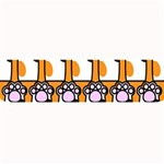 Cute Cat Hand Orange Large Bar Mats 34 x9.03 Bar Mat - 1