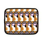 Cute Cat Hand Orange Netbook Case (Small)  Front