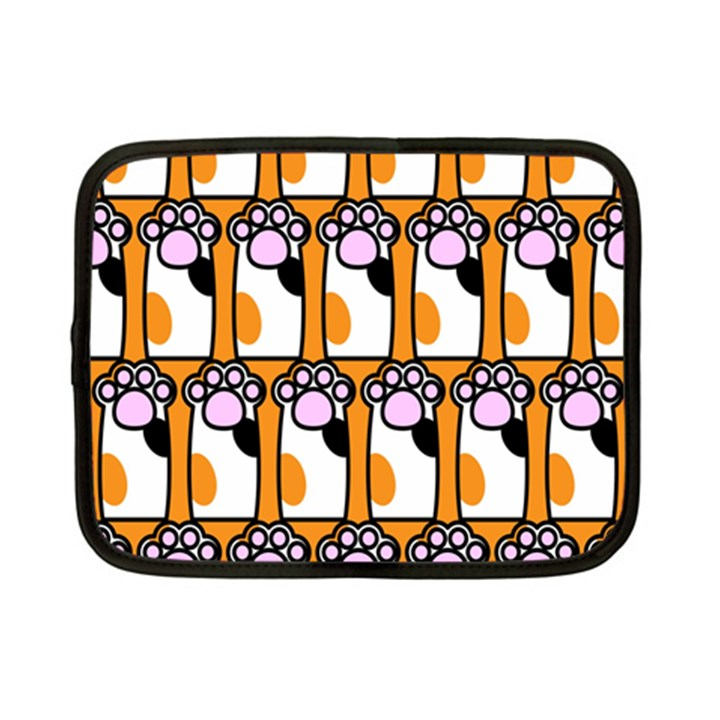 Cute Cat Hand Orange Netbook Case (Small)