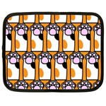 Cute Cat Hand Orange Netbook Case (Large) Front