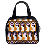 Cute Cat Hand Orange Classic Handbags (2 Sides) Front