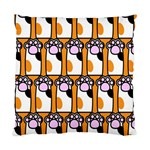 Cute Cat Hand Orange Standard Cushion Case (One Side) Front