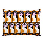 Cute Cat Hand Orange Pillow Case 26.62 x18.9 Pillow Case