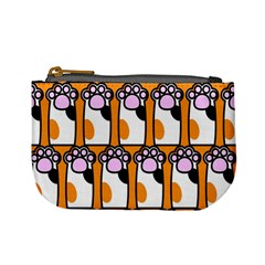 Cute Cat Hand Orange Mini Coin Purses