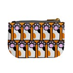Cute Cat Hand Orange Mini Coin Purses Back