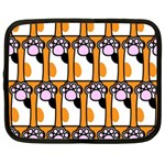 Cute Cat Hand Orange Netbook Case (XXL)  Front