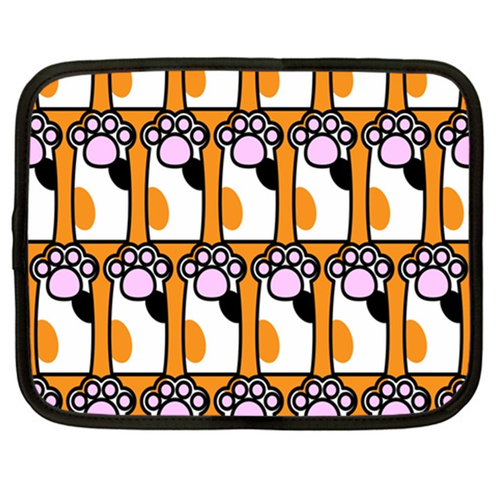 Cute Cat Hand Orange Netbook Case (XXL)