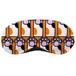 Cute Cat Hand Orange Sleeping Masks Front