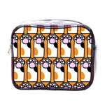 Cute Cat Hand Orange Mini Toiletries Bags Front