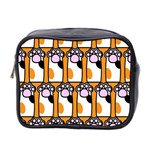 Cute Cat Hand Orange Mini Toiletries Bag 2-Side Front