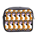 Cute Cat Hand Orange Mini Toiletries Bag 2-Side Back