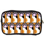 Cute Cat Hand Orange Toiletries Bags Front