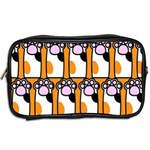 Cute Cat Hand Orange Toiletries Bags 2-Side Back