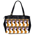 Cute Cat Hand Orange Office Handbags (2 Sides)  Back