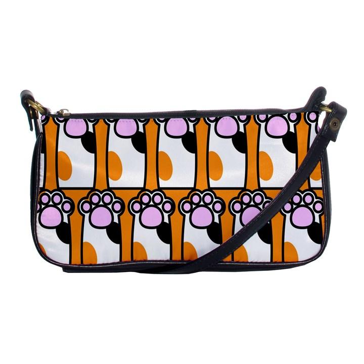 Cute Cat Hand Orange Shoulder Clutch Bags