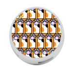 Cute Cat Hand Orange 4-Port USB Hub (One Side) Front