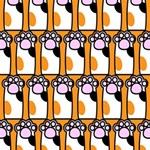Cute Cat Hand Orange Magic Photo Cubes Side 3