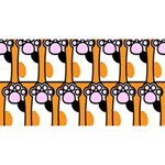 Cute Cat Hand Orange Magic Photo Cubes Long Side 3