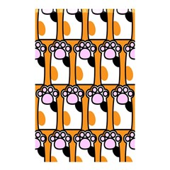 Cute Cat Hand Orange Shower Curtain 48  x 72  (Small)