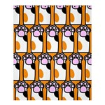 Cute Cat Hand Orange Shower Curtain 60  x 72  (Medium)  54.25 x65.71 Curtain