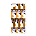 Cute Cat Hand Orange Apple iPhone 4 Case (White) Front