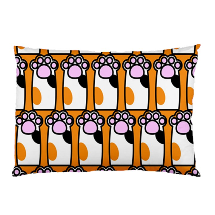 Cute Cat Hand Orange Pillow Case (Two Sides)