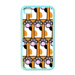 Cute Cat Hand Orange Apple iPhone 4 Case (Color) Front
