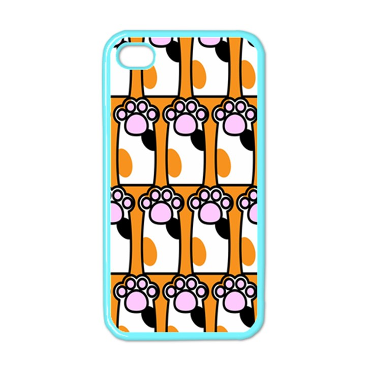 Cute Cat Hand Orange Apple iPhone 4 Case (Color)