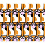 Cute Cat Hand Orange Deluxe Canvas 14  x 11  14  x 11  x 1.5  Stretched Canvas