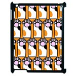 Cute Cat Hand Orange Apple iPad 2 Case (Black) Front