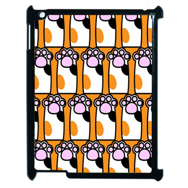 Cute Cat Hand Orange Apple iPad 2 Case (Black)