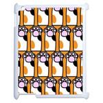 Cute Cat Hand Orange Apple iPad 2 Case (White) Front