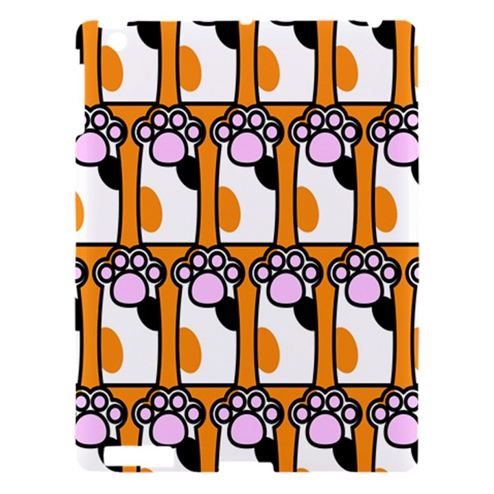 Cute Cat Hand Orange Apple iPad 3/4 Hardshell Case