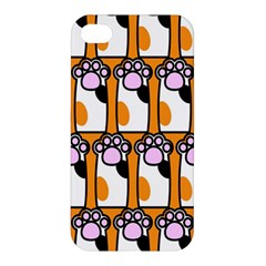 Cute Cat Hand Orange Apple iPhone 4/4S Premium Hardshell Case