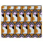 Cute Cat Hand Orange Cosmetic Bag (XXXL)  Front