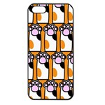 Cute Cat Hand Orange Apple iPhone 5 Seamless Case (Black) Front