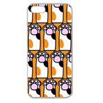 Cute Cat Hand Orange Apple Seamless iPhone 5 Case (Clear) Front