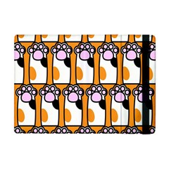 Cute Cat Hand Orange Apple iPad Mini Flip Case