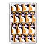 Cute Cat Hand Orange Apple iPad Mini Case (White) Front