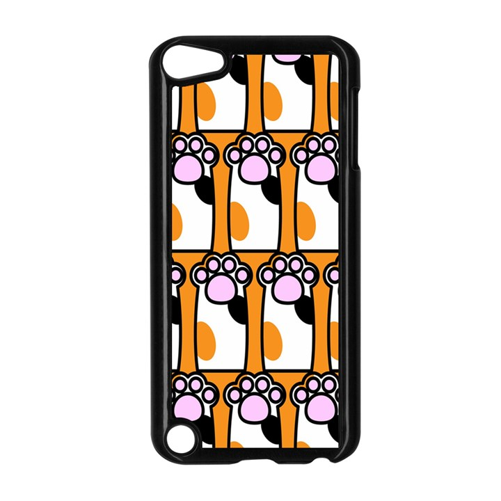 Cute Cat Hand Orange Apple iPod Touch 5 Case (Black)