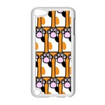 Cute Cat Hand Orange Apple iPod Touch 5 Case (White) Front