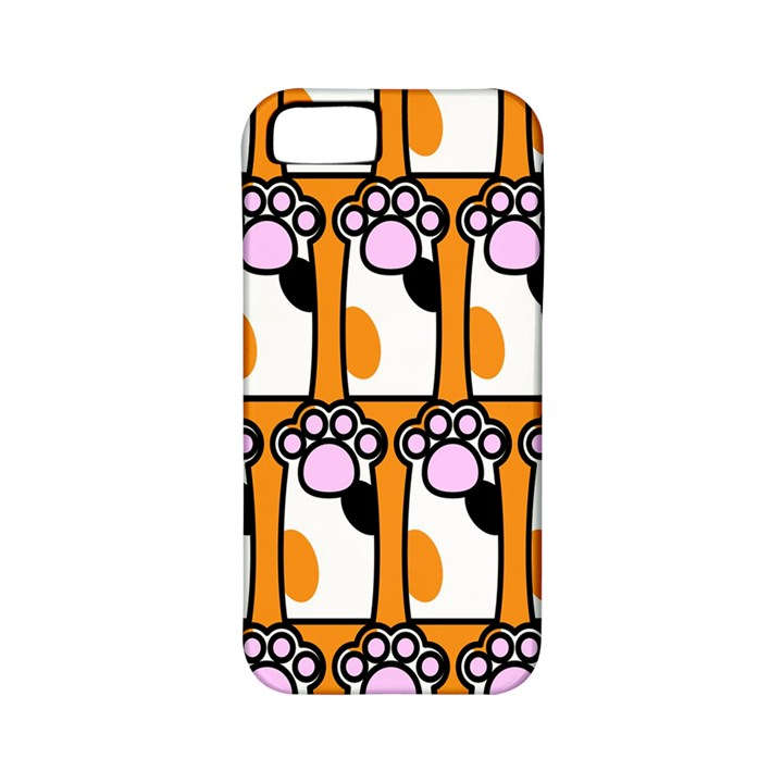 Cute Cat Hand Orange Apple iPhone 5 Classic Hardshell Case (PC+Silicone)