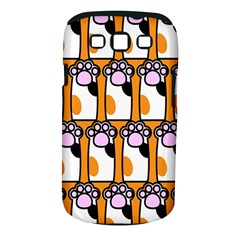 Cute Cat Hand Orange Samsung Galaxy S III Classic Hardshell Case (PC+Silicone)