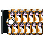 Cute Cat Hand Orange Apple iPad 3/4 Flip 360 Case Front
