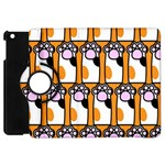 Cute Cat Hand Orange Apple iPad Mini Flip 360 Case Front