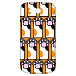 Cute Cat Hand Orange Samsung Galaxy S3 S III Classic Hardshell Back Case Front